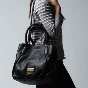 Marc by Marc Jacobs New Q Fran Black Leather Bag